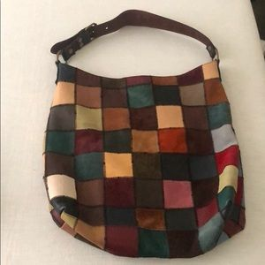 Lucky Brand Patchwork Multicolor Shoulder Bag